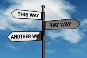 Sign pointing different directions | Therapy Services in St. Petersburg FL
